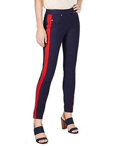 Michael Michael Kors Women Pants Pull On Stripe Leg Stretch Blue XS