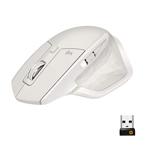 Logitech MX Master 2S kabellose Maus (Bluetooth für Mac und Windows) hellgrau -