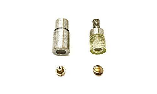 Doppel Kappe Nieten Einstellwerkzeug Stanzen Set für Universal Blau Handpresse Maschine Nieter von Trimming Shop - Blau Maschine Handpresse, 8mm (Handtasche-reparatur-teile)