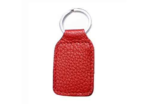 Feicuan Key Ring Entrance Guard Card Cover Leather Access Control Card Casing Remote Door Key Chain Bag Schlüsselmäppchen Red (Card Access Door Lock)