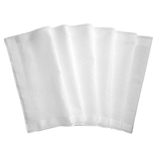 Taschentücher Baumwolle Weiße Damen (Damen-Taschentücher 6er-Pack Baumwolle weiss Größe 29x29 cm)