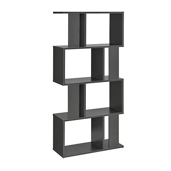 [en.casa] Bücherregal in 3 Farben Regal Standregal Medienregal Aktenregal Aufbewahrung Büro