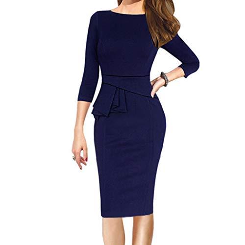 ┃BYEEEt┃ Formale Business Peplum Matita Festa Vestito da Donna Casuale Slim Fit Ruffles Cocktail Vestito Donna Cort