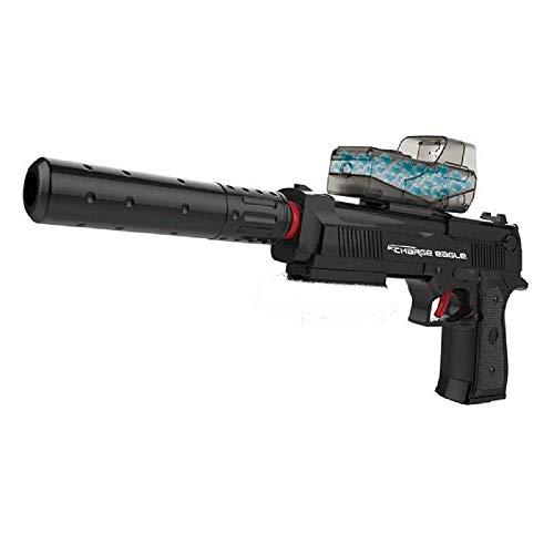 Pistola de Bolas de Gel. Funciona con Batería Recargable. NO Lleva LÁSER (al Estar Prohibido), Aunque lo Pone en la Caja del Producto.