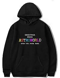 JJZHY Sudadera con Capucha y Estampado Creativo de la Letra Genius Travis  Scott Astroworld f870c2b9422