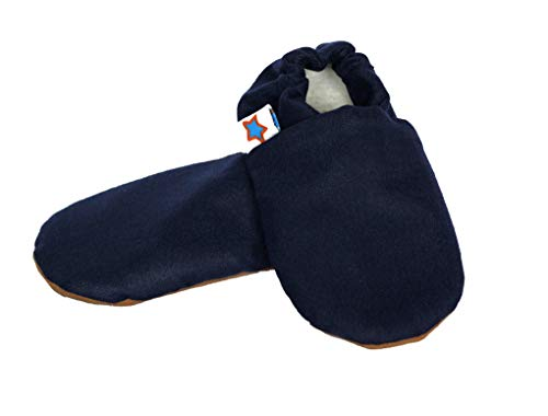 SKIPS Comfortable Baby Booties Shoes for Baby Girl & Boy (2 Years) - Navy Blue Print