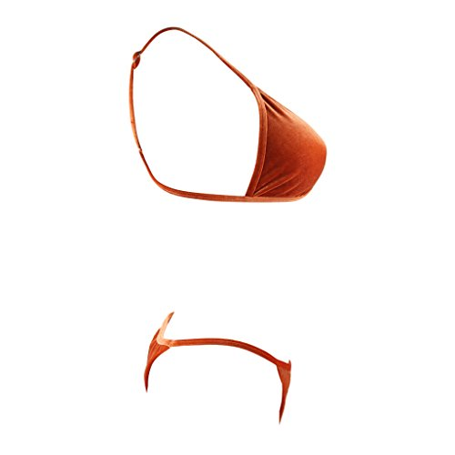 SWIWA Damen Einfarbig Dreiek Bikini-Sets Slip Push Up Badeanzug Bademode swimwear swimsuits Orange