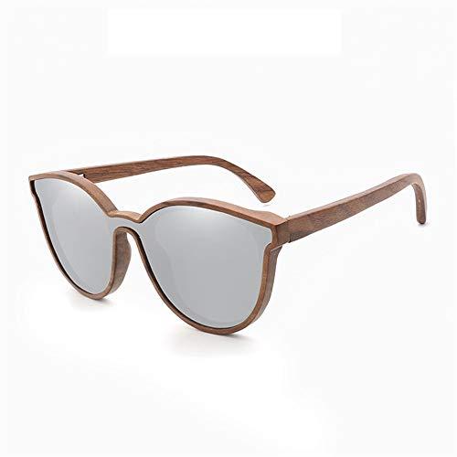 Ruanyi Holz Bambus Neue Unisex Hand Machen Sonnenbrillen Mode persönlichkeit Bambus Sonnenbrillen uv400 für Unisex Bunte Spiegel Freizeit Klassische Sonnenbrille (Color : T2)