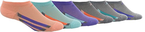 adidas Girl's Cushioned No Show Socks (6 Pack)