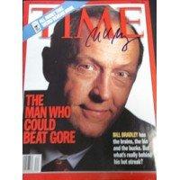Firmato Bradley, bill Time Magazine (data 10/4/99) autografata