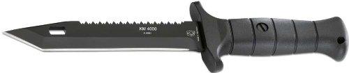 Eickhorn Kampfmesser KM4000, Stahl 1.4110, Kunststoff-Griff,, Cordura/Kunststoff-Scheide