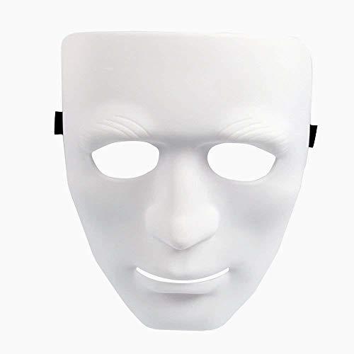 Beito Full Face Maske Kunststoff Plain-Kostüm-Party-Tanz-Crew für Hip Hop Dance/Oper ()