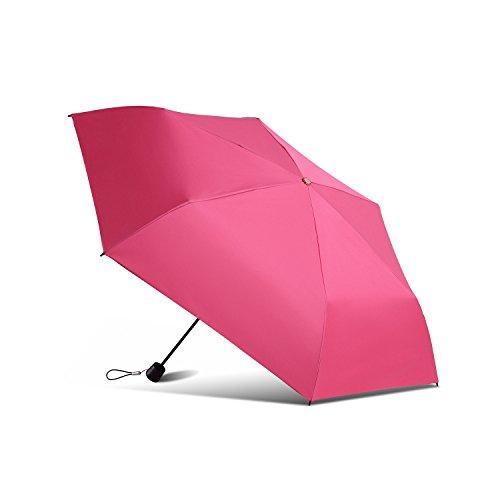Migobi ultralight pieghevole colorato ombrello compatto da viaggio anti uv ombrellone, 104,1cm rosa pink