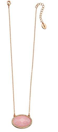 Quarz Kristall Halskette Klar (Fiorelli Costume Speicher, versilbert, rosa und klaren Preciosa Halskette Kristall, Oval, 59 cm)