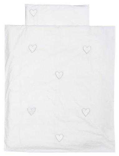 Preisvergleich Produktbild TAFTAN DS-118 Herzen Bettwäsche Set für klein Bett, 100 x 135 cm, in 2 farben verfügbar