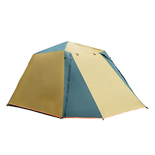 YFTM-UL Outdoor Camping Automatische Geschwindigkeit Offene Familie 3-4 Personen Zelt Anti-Sturm Regen Anti-UV Strand Angelzelt,Yellow -