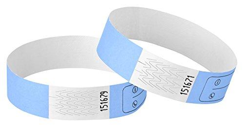 Haftpunkt Notfall-Armband für Kinder (20er Set) und Erwachsene mit Sicherheitsverschluss - Reissfest - Wasserfest - Premium SOS Armband - Sicherheitsarmband (Unisex, Skyblau) (Kinder-armbänder)