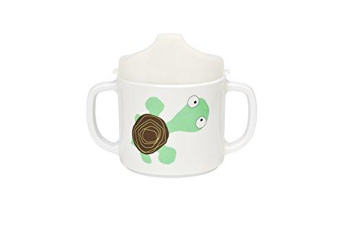 LÄSSIG Tasse Trinklernbecher Schnabeltasse Kinder Baby Kleinkind mit Henkeln rutschfest spülmaschinengeeignet/Cup Wildlife Turtle Trinken Tasse