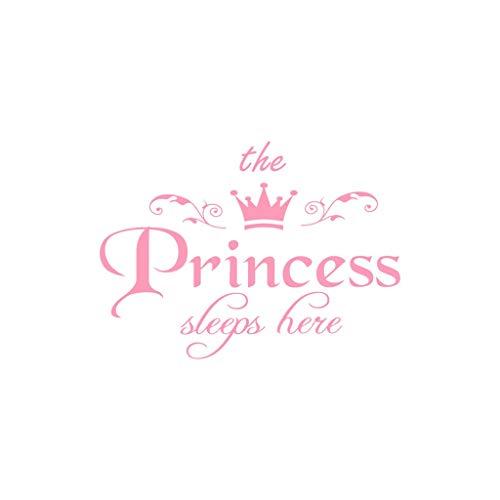 SuperSU ►▷ Creative Spiegel The Princess Muster Decals 45 * 32.5cm Fliesenaufkleber Aufkleber Flur Diele Wohnzimmer selbstklebend Sticker Wandaufkleber Aufkleber Deko Wandsticker