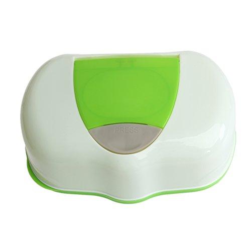 SimpleLife Kunststoff-Tissue-Aufbewahrungsbox Feuchttücher Aufbewahrungskoffer-Box Home Storage Holder Container Zubehör Nachfüllbarer Container 80 Blätter