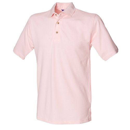 Henbury Herren Polo-Shirt, unifarben Pink
