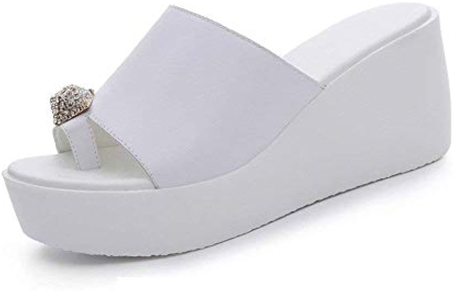 Jincosua Cool Slope with Slippers Female Summer 2018 New Thick Bottom Summer Outdoor Tide Pantofole a Forma di... | Molte varietà  | Uomo/Donna Scarpa