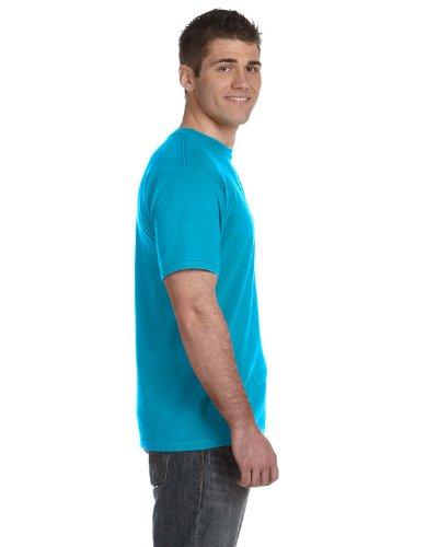 Koi auf American Apparel Fine Jersey Shirt Caribbean Blue