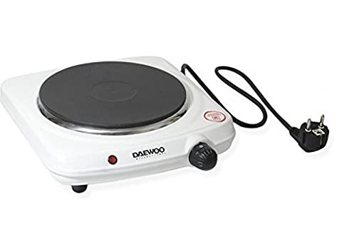 Daewoo DEAW-DI9302 Solid Disc 1500-watt Portable Burner, White, 220-volt by Daewoo