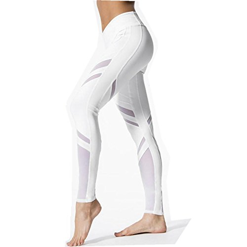 LILICAT Leggins de Yoga para Mujeres, Pantalones Cintura Alta Push Up de Deportes/Gimnasio/Yoga/Correr/Pilates, Mallas Chandal Deportivo Elasticos de Fitness Moda Verano Pantalón de Mujer (S, Blanco)