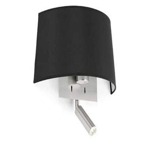 Faro Barcelona 20024 VOLTA Lampe applique noire avec lecteur LED