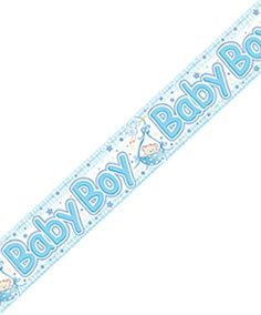 Blue Blocks New Born Baby Boy Banner/Party Bunting - 2.6m [EF] by The Expressions Factory