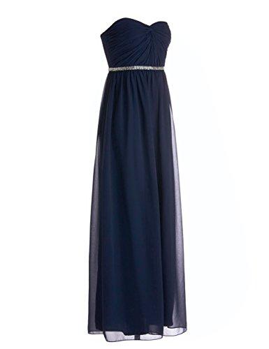 Dressystar Robe de demoiselle d'honneur/de soirée à Col en Cœur agrémentée d'une ceinture étincelante Menthe