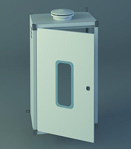 Chimeplast 800480300ARMPEQ - Armario protector para calentador, aluminio blanco 800 x 480...