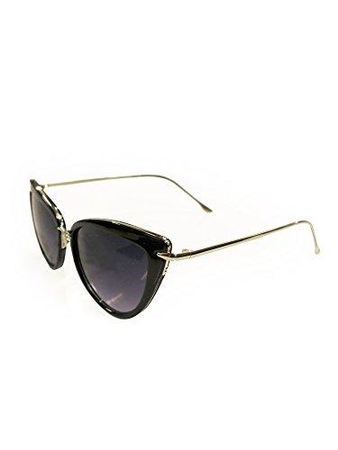 50s retro Cat Eye Sonnenbrille v. Collectif, Farbe:Schwarz, Größe:onesize