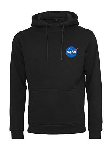 Mister Tee Herren NASA Small Insignia Hoodie - Männer Streetwear Kapuzenpullover, Black, Größe M