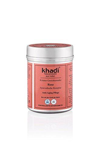 khadi Gesichtsmaske Rose 50g I Natürliche Gesichtspflege für trockene, gereizte und reife Haut I...