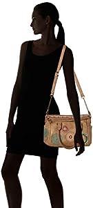 Desigual - Bols_siara Loverty, Shoppers y bolsos de hombro Mujer, Marrón (Beige Safari), 14x24x33 cm (B x H T) de Desigual