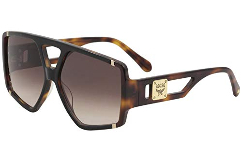 MCM MCM671S MCM/671/S 019 Damen Sonnenbrille, eckig, 61 mm, Schwarz/Havana