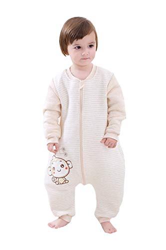 Babyfat sacco nanna/pigiama con piedini neonato bambino autunno/invernale 2.5tog - scimmia - cammello label 100(2-3t)