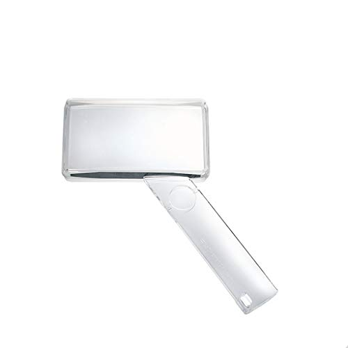 Fangfang GAO magnifier Durchmesser 8,8 cm Handheld 1,5X HD Objektiv Rechteckige Lupe für ältere Personen, Schmuck Identifikation, Elektronische Wartung, Low Vision -