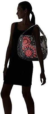 Desigual - Bols_red Queen Marteta, Shoppers y bolsos de hombro Mujer, Negro, 16x34x40 cm (B x H T) de Desigual