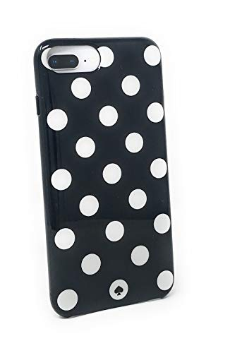 kate spade New York Large Polka Dots Protective Rubber Case For iPhone 8 Plus/iPhone 7 Plus/iPhone 6 Plus, Black/Cream -