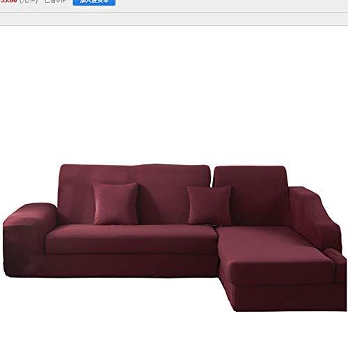 NHFGJ Funda elástica para sofá de Rojo 1/2/3/4 plazas Elástico Universal Todo...