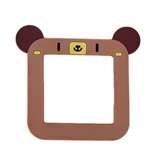 Weryffe Cartoon Tier Silikon Schalt Aufkleber Angebracht Hohl Schaltsteckdose Kreative Niedlich Dekoration Leuchtende Wandaufkleber (Brauner Panda)