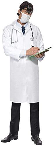 Smiffys Herren Doktor Kostüm, Kittel und Mundschutz, Größe: M, 22192