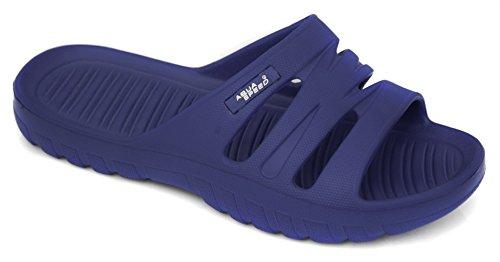 Aqua speed vena Ciabatte Donna/Badelatschen con suola anti-scivolo blu