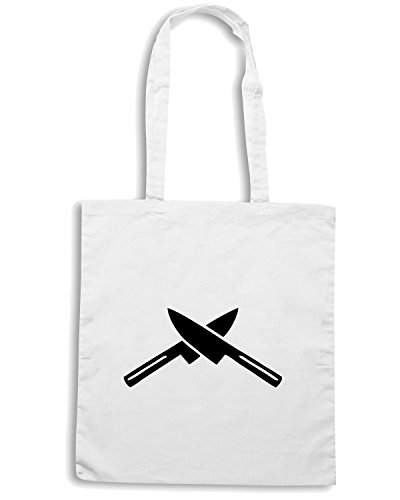 T-Shirtshock - Borsa Shopping TM0512 cook knife Bianco