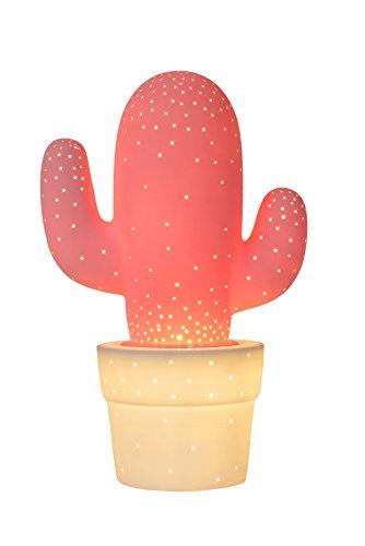 Lucide CACTUS - Lampe De Table - Ø 20 cm - Rose