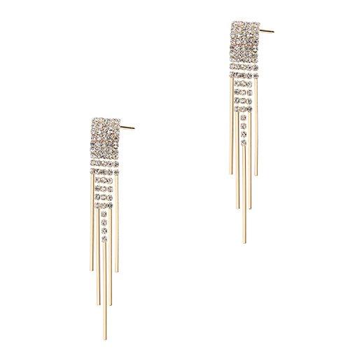 BABEYOND Damen Ohrringe überzogene Messing Blinkende Troddel Muster Ohrringe Art Deco Damen Modeschmuck Accessoires 3.15