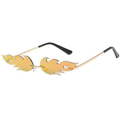 Lazzboy Mann Frauen Unregelmäßige Form Sonnenbrille Brille Vintage Retro Smart Change Semirandless Outdoor-reiten Sport Fahren Polarisierte Schutz Radfahren Skifischen Golf(E)